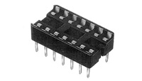 24 Pin Socket, Dual Leaf, Straight Leads      2-641615-1