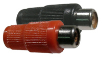 RCA Jack, Plastic covered, Red & Black       24-152-2