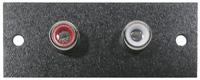 Phenolic Insulated Dual RCA Jacks, pkg of 2       24-172-2