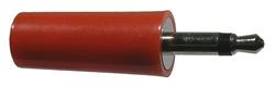 3.5mm Mono Plug, Red, 25mm   24-302-0