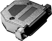 DB15 Chrome Plated D-Sub Hood   30-231-0