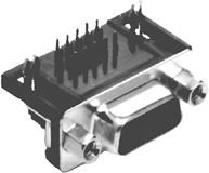 DB26F HD R/A PC Mount D-Sub           30-861-0