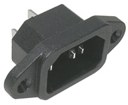 Chassis Receptacle, 3 wire     31-045-0