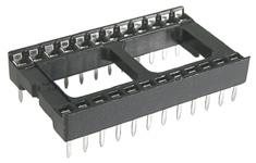 14 Pin Dual Wipe IC Socket   39-014-0