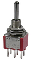 PC Mount Sub-Mini Toggle Switch, DPDT, 5a       41-273T-0