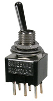 PC Mount Sub-Mini Toggle Switch, DPDT, 6a     41-275-0