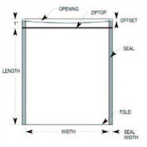 Static Shielding Bag, 4 x 4, Metal In, Zip Top   30044,3M,SCC1000ZipTop