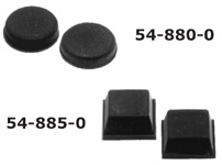 Adhesive Rubber Feet, 1/2″ Square, 24/pkg    54-885-24