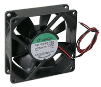 Fan – 12v, 80x80x25mm, 24.5 dbA, Sleeve        59-284-0