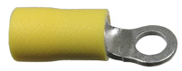 Ring Terminal, Insulated, 12-10 (Yellow),  1/4″,  50/pkg       73-056-50
