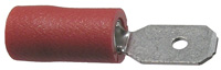 Male Quick Connect, Insulated, 22-16 (Red), .187″, 100/pkg       73-433-100