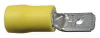 Male Quick Connect, Insulated, 12-10 (Yellow), .250″, 50/pkg       73-456-50