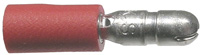 Male Bullet Connector, Insulated, 22-18 (Red), .157″, 100/pkg       73-632-100