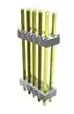 2 x 2 Board Stacker, Double Row, Gold       HW02-11-L-D-425-120