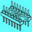 20 Pin Machine Plug Adapter, Gold        AP320-G-N