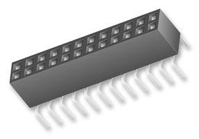 2 x 25 Pin Double Row Box Connector, 2.54mm        BCS125-L-D-PE