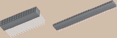 1 x 36 Socket Strip, Gold, Single Row    SSQ-136-01-G-S