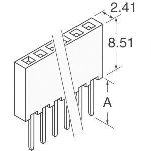 1×36 Socket Strip, Solder Tail, Single Row          SSW-136-01-T-S