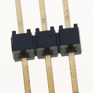 1×3 Pin .025″ Terminal Strip, Square Post, Through-Hole, Gold        TSW-103-08-G-S