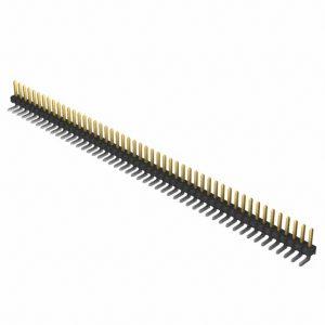 1×50 Pin .025″ Terminal Strip, Square Post, Through-Hole, R/A        TSW-150-10-L-S-RE