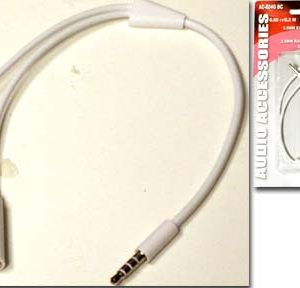 3.5MM MALE 4 CONDUCTOR TO TWO FEMALE SPLITTER       BTW-804