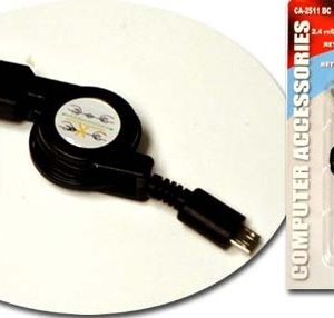 USB 2.3 FT RETRACTABLE USB TO MICRO USB CABLE, WELLSON, BTW-2511