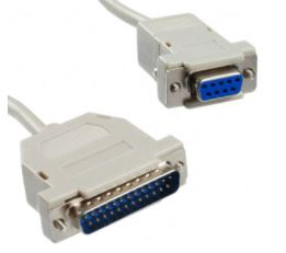 Null Modem Cable, DB9F to DB25M, 2mt        AK125-2