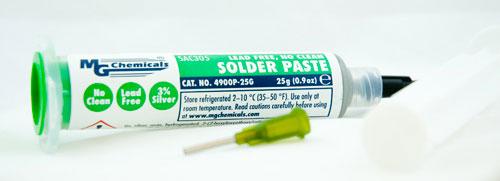 Lead Free Solder Paste, No Clean, 25g(0.9oz)    4900P-25G