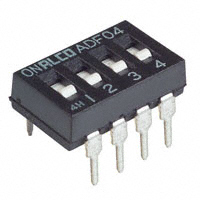 Dip Switch, 4 Pole, SPST     ADF04