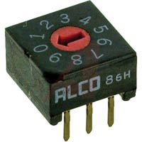 Rotary DIP Switch, 10 Position, BCD     DRD10E04