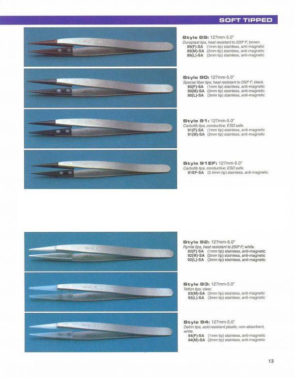 """Tweezer, 5"""" (127mm), .3mm Tip, Anti Magnetic & ESD Safe 91-EF5-SA"""