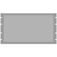 "PERFORATED PANEL, 19"" X 8.75"",  BLACK GLOSS, 5U, HAMMOND, PPFS19008BK2"