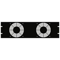 Fan PANEL WITH TWO 4.7″ FAN CUTOUTS, Hammond ,PPGP191202BK1