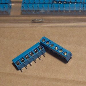 6 position terminal block, 5.08mm pitch, Jieke JK301-508-6p