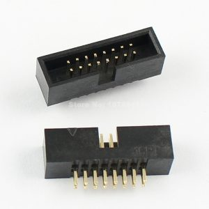 Boxed Header 16-pin Right angled