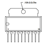 Integrated Circuit Dual 2.4 W Audio Power Amp