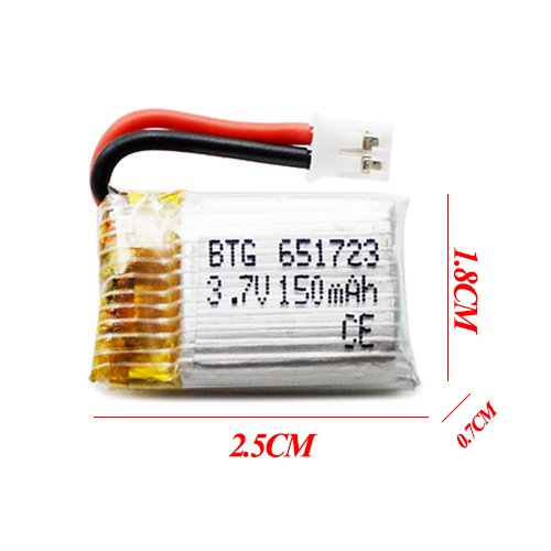 3.7V 150mAh Lipo Battery
