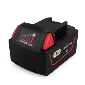 Biswaye 18V 5.0Ah Replacement Lithium Ion Battery for Milwaukee, BTW-M18