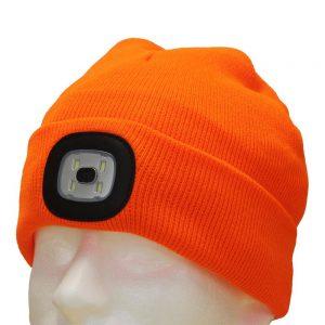 Eclipse Tools Orange LED Light Up Beanie